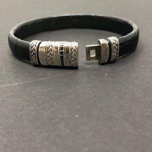 Jewelry - Crocodile Black Diamond Leather Bracelet